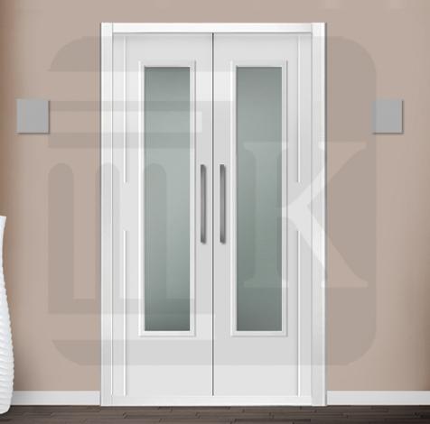 Puerta para armario abatible con cristal - ALBANIA V