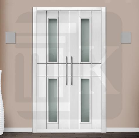 Puerta para armario abatible con cristales - ALGECIRAS V2