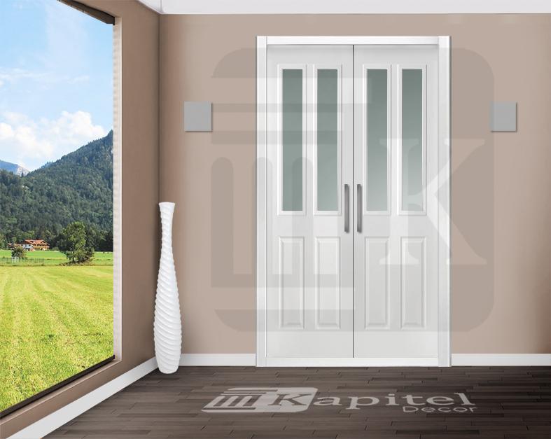 Puerta para armario abatible con cristales - AMIENS 2V