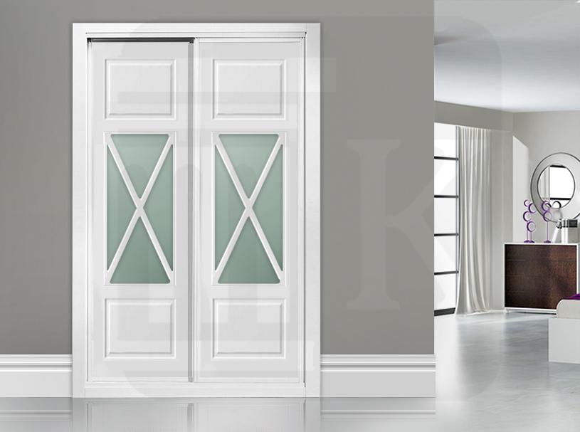 Frente de armario corredera con cristal ASPA CENTRAL