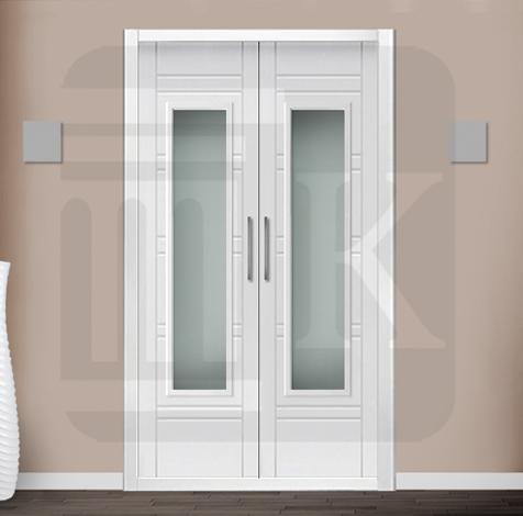 Puerta para armario abatible con cristal - ATENAS V