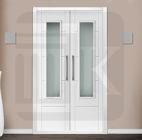 Puerta para armario abatible con cristal - BARCELONA V