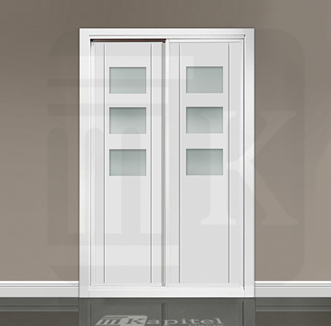 Frente de armario corredera con cristales CÁCERES 3V