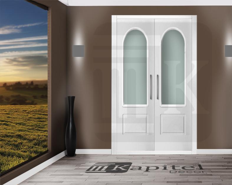 Puerta para armario abatible con cristal - CÓRCEGA V