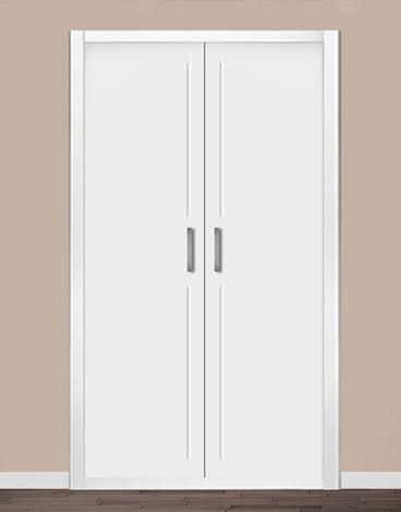 Puerta de armario abatible lacado líneas - ALBANIA