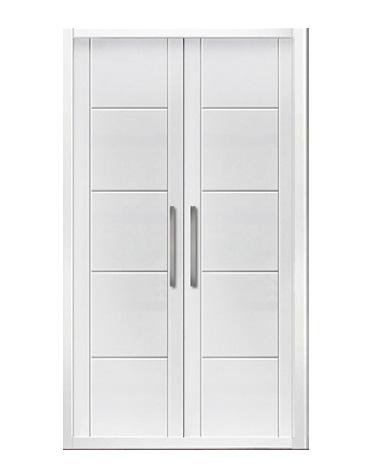 Puerta de armario abatible lacado líneas - BARCELONA