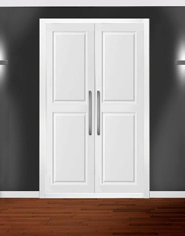 Puertas para armario abatible lacado fresado - NIMES
