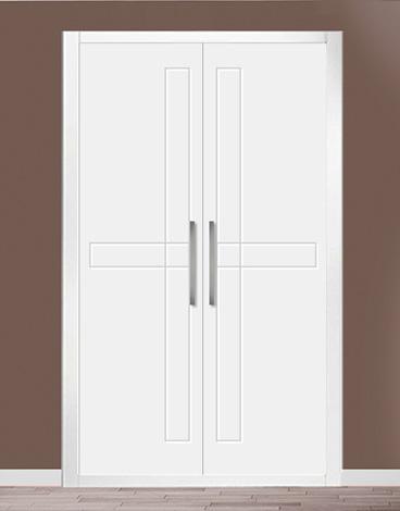 Puerta de armario abatible lacado líneas - ROMA