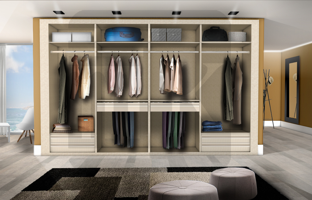 4 m dulos 4 m dulos interior 008 zapatero pantalonero - Zapateros interior armario ...