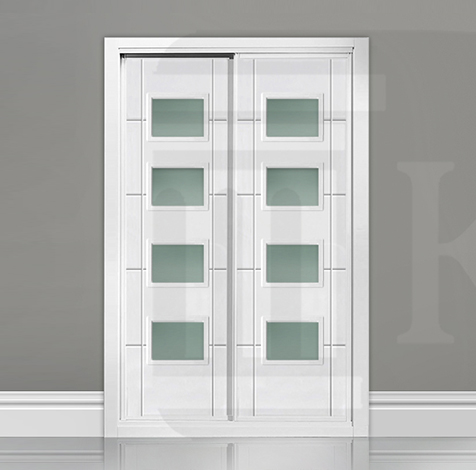 Frente de armario corredera con cristales LA FRONTERA 4V