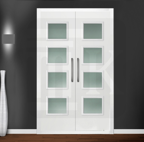 Puerta para armario abatible con cristales - LISA KAPITEL 4V