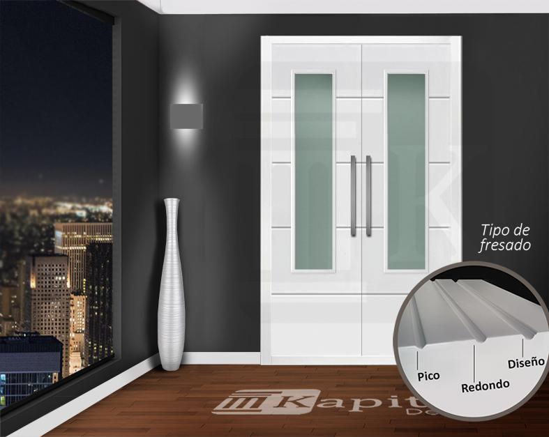 Puerta para armario abatible con cristal - MADRID V