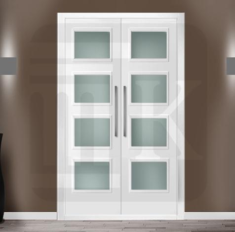 Puerta para armario abatible con cristales - ORLEANS 4V
