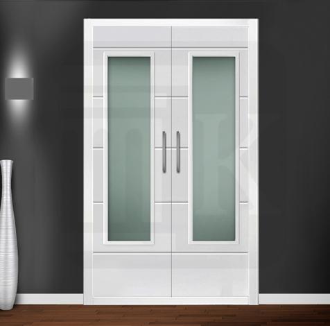 Puerta para armario abatible con cristal - OXFORD V