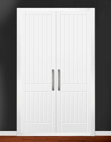 Puerta de armario abatible lacado líneas - POMPEYA