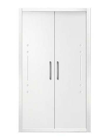 Puerta de armario abatible lacado líneas - ARGEL