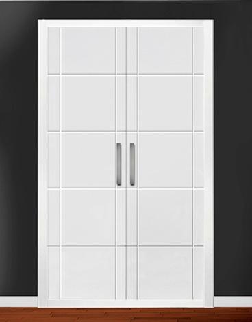 Puerta de armario abatible lacado líneas - LA FRONTERA