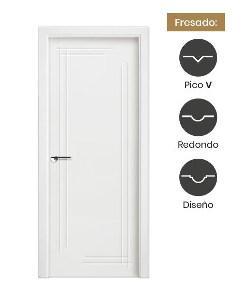 Puerta interior lacada modelo Mallorca