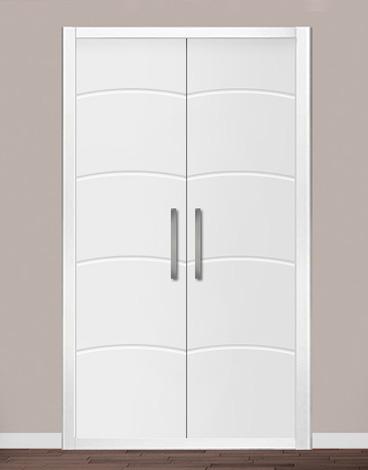 Puerta de armario abatible lacado líneas - GANDÍA