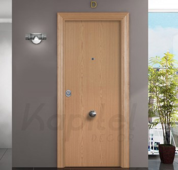 Roble Liso - Puerta blindada Kapitel Decor 2a