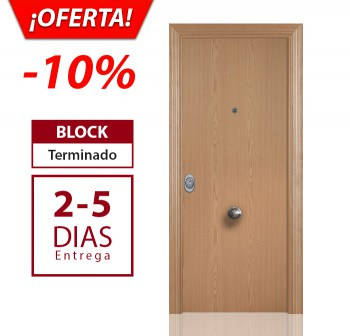 Roble Liso - Puerta blindada Kapitel Decor en oferta