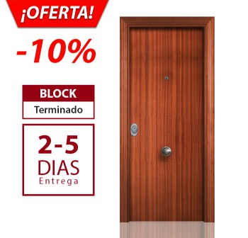 Sapelly Liso - Puerta blindada Kapitel Decor en oferta