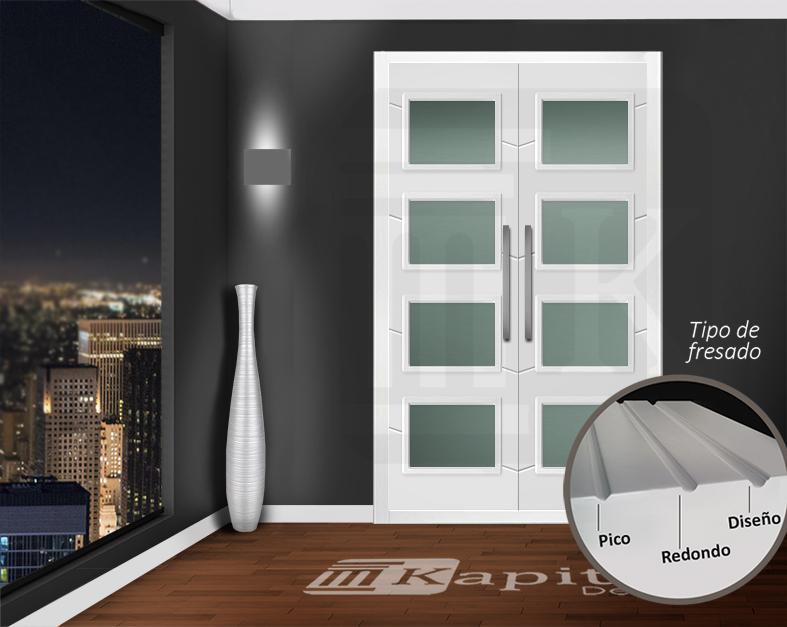 Puerta para armario abatible con cristales - SANTA MARÍA 4V