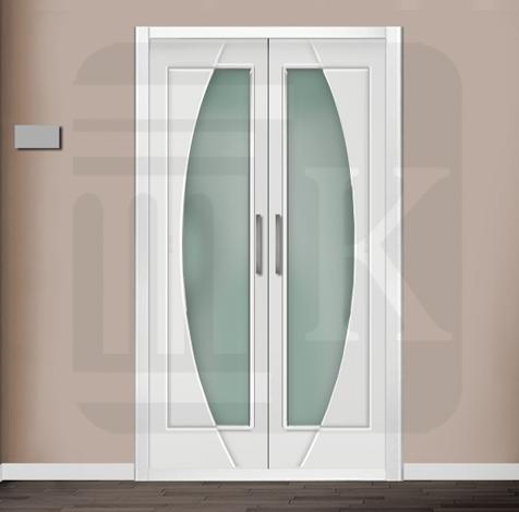 Puerta para armario abatible con cristal - SÍDNEY VE