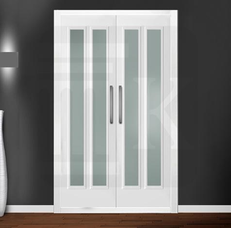 Puerta para armario abatible con cristales - VERSALLES 2V